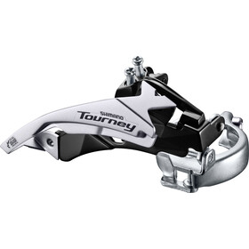 Shimano Tourney FD-TY500 Deragliatore fascetta Top Swing 63-66° 6/7 velocità nero/argento
